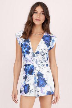 Show Off Floral Surplice Romper at Tobi.com #shoptobi