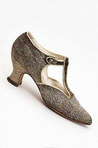 flapper evening shoes     c 1925