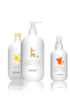 Bottles and graphics for pediatric range, Babé by Lavernia & Cienfuegos Design, Valencia