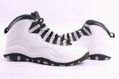 online store c3be8 6a4b9 Nike Air Jordan 10 Retro White Black Men s