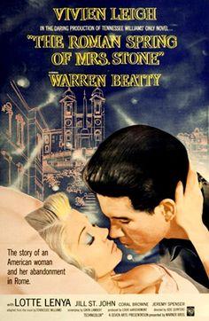 The Roman Spring Of Mrs. Stone (1961) - Vivien Leigh, Warren Beatty, Coral Browne, Jill St. John, Lotte Lenya
