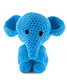 Hoooked Elephant Mo royal blue amigurumi crochet kit