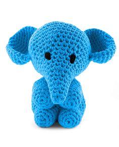 Hoooked Elephant Mo royal blue amigurumi crochet kit