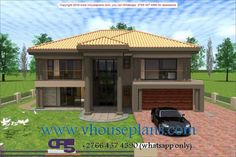 W FOR SHOWCASE ONLY 128 Double Storey House, Free House Plans, Plan Design, Home Collections, My Dream Home, My House, Gazebo, Brick, Bedrooms