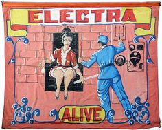 HAND PAINTED SIDE SHOW BANNER FOR ELECTRA