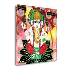Tangletown Fine Art 'Ganesh of Gratitude' by Jessica Swift Painting Print on Wrapped Canvas
