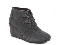 63a9b6eb3bd9 The Kala bootie from TOMS will be the perfect addition to your cool weather  wardrobe. A soft suede construction and just-right wedge heel makes this  ankle ...