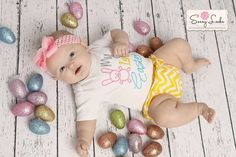 My First Easter Baby Boy  Baby Girl Clothes Bodysuit Embroidered with  My 1st Easter by sassylocks on Etsy