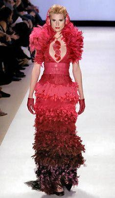 Project Runway 1 - final red dress fashion week jay mccarroll in project runway Couture Fashion, Runway Fashion, Diy Fashion, Fashion Ideas, Project Runway Dresses, London College Of Fashion, Fashion Seasons, Designer Dresses, Nice Dresses