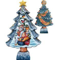 G Debrekht Derevo Christmas Tree Santa with Kids Figurine