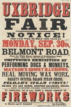 UXBRIDGE Fair Typography Poster. 20 Magnificent Examples of Typography. #typography #design #inspiration