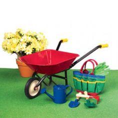 First Real Gardening Set-shovel, rake, spade, gloves at CPtoys.com  $50