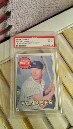 1969 Topps Mickey Mantle (Last Name In Yellow) #500 EX 5, PSA, 1st Base Yankees, Baseball Card, Collectible, $255.00 #sportscard #yankees Mickey Mantle