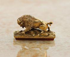 Antique Gold and Carnelian Buffalo Wax Seal