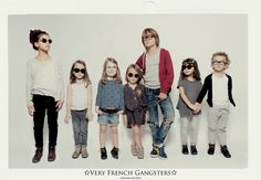 None of these kids looks quite like the other.  But all are textured, layered and comfortable. Good for black and white photo.
