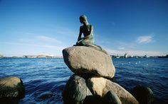 Statue of the Little Mermaid Copenhagen