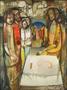 El mensaje, Juan Batte Planas (óleo sobre tela)