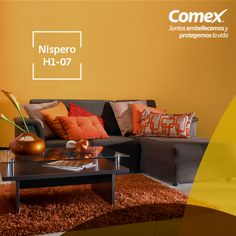 Renueva tu hogar este fin de año con el color #Nispero #ComexPinturerías #Decoración