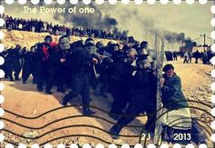 """Stampede Beta - Stamp Profile - The Power of one This picture won the Pulitzer Breaking News Photography 2007 award. Photo's citation reads, """"Awarded to Oded Balilty of The Associated Press for his powerful photograph of a lone Jewish woman defying Israeli security forces as they remove illegal settlers in the West Bank"""