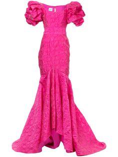 Купить Bambah платье с рюшами с юбкой-годе.