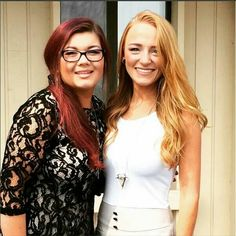 Amber and Maci at Catelynn and Tylers Wedding.