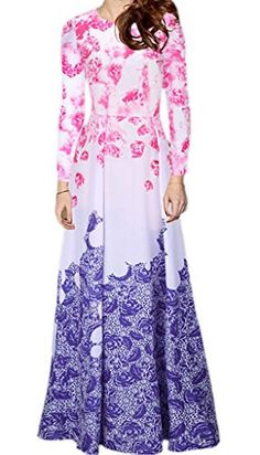 Smile YKK Gradient Floral Printed Cocktail Evening Party Prom Long Dress L. Material: Chiffon & Polyester. Asia Size: L: Bust:102cm, Length:142cm, Waist:84cm, Sleeve:61cm, Shoulder:40.5cm;XL: Bust:106cm, Length:142cm, Waist:90cm, Sleeve:62cm, Shoulder:42cm;XXL: Bust:114cm, Length:144cm, Waist:96cm, Sleeve:63cm, Shoulder:43.5cm. Show your perfect curves,shows your charm and elegant. Occasion : Wedding party; Evening Party Dress; Cocktail Dress; Clubwear; Special Occasion Dresses. The size is…