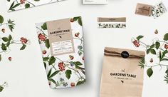 The Gardens Table organic café — The Dieline - Package Design Resource