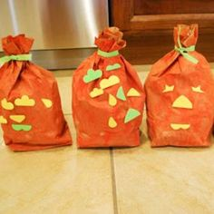 Paper Bag Pumpkins from Mess for Less