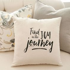 Find Joy In the Journey Pillow Cover