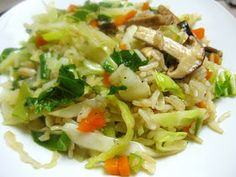Cơm chiên chay thập cẩm. Veggie fried rice