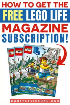 Free LEGO Life Magazine Subscription for Kids! Comes 4 times a year with some amazing Lego Ideas #legoideas #lego #legostorage