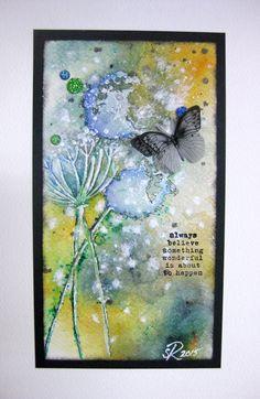 Small mixed media painting