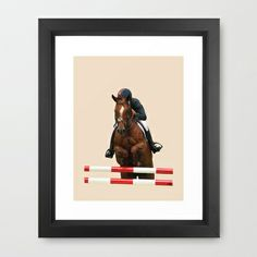 Show Jumping 1 Framed Art Print by Horseaholic - $35.00