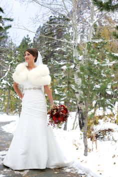 Beautiful winter bride!