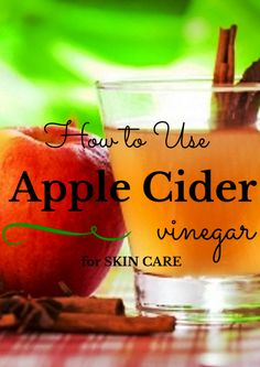 Apple cider vinegar has many uses. It is not only used for culinary purposes. It can also be used as an effective skin care product. You can CLICK and READ more about the wonderful benefits of apple cider vinegar for your skin in this post.
