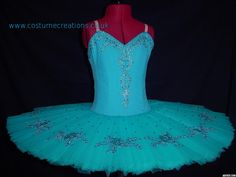 TURQUOISE BLUE TUTU for Dance Festivals and Competitions by Monica Newell www.costumecreations.co.uk