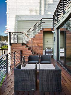 Stunning wrought iron deck railing