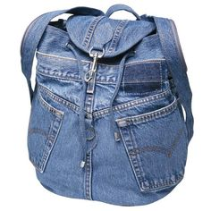 Trendy sewing projects bags old jeans handbags Diy Jeans, Sewing Jeans, Mochila Jeans, Jean Backpack, Diy Sac, Denim Handbags, Denim Purse, Denim Ideas, Denim Crafts