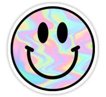 Smiley Face Trippy Sticker