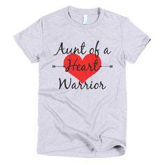 Aunt of a Heart Warrior Women's Shirt