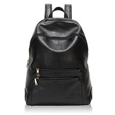 Hynes Victory Faux Leather Backpack for Women Dressy Campus Backpack Purse  Black e40708793e811