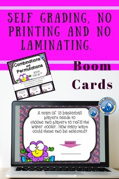 Boom Cards™ are a great way for students to practice every day skills In this deck, students practice finding combination and permutations. This set of Boom Cards features 35 different Digital Self-Checking Task Cards. (No printing, cutting, laminating, or grading!)