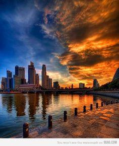新加坡的天際線 #SIngapore