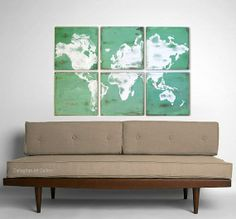 Large scale vintage map, this could make a nice DIY project!