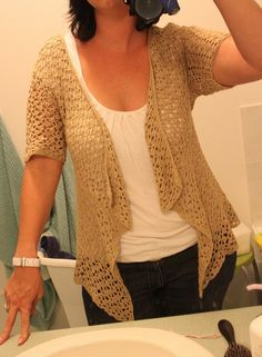 I think I need to make this for work this summer!!!  (Crochet Cardigan - free pattern on Ravelry.)