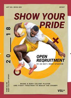 Sport Poster Template PSD