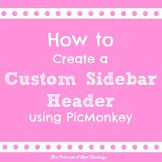 How to Create a Custom Sidebar Header - The Princess & Her Cowboys