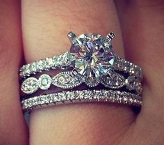 Love the bands on this one Perfect Wedding, Dream Wedding, Wedding Day, Trendy Wedding, Gold Wedding, Wedding Album, Wedding Dreams, Wedding Bride, Ring Set