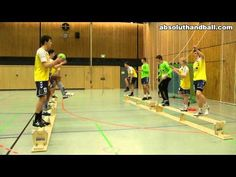 Pass-/Coordination training on benches - YouTube