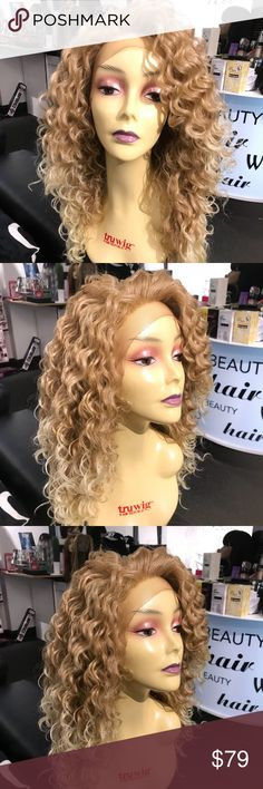 Blonde ombré beige light Lacefront FREE Part The color isFABULOUS Heat resistant adjustable cap wig combs inside Curl flat iron Lacefront wig price firm new read my reviews check out my closet all New wigs for ship Asap Accessories Hair Accessories